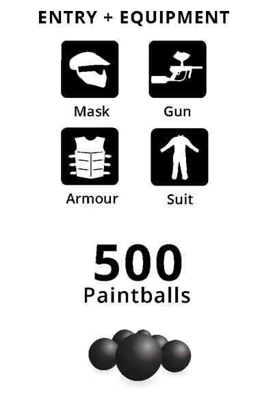 Entry + Equipment, 500 Paintballs